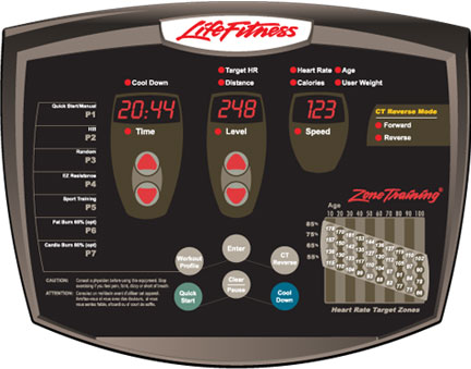 Life Fitness X5 Elliptical Console